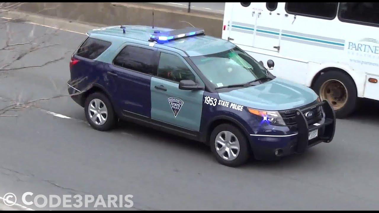 Massachusetts State Police Ford Explorers Responding Youtube
