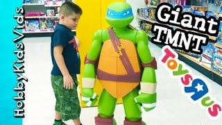 GIANT Ninja Turtle Toy! Hoola Hoop Fail + TMNT Superhero Toy Look HobbyKids