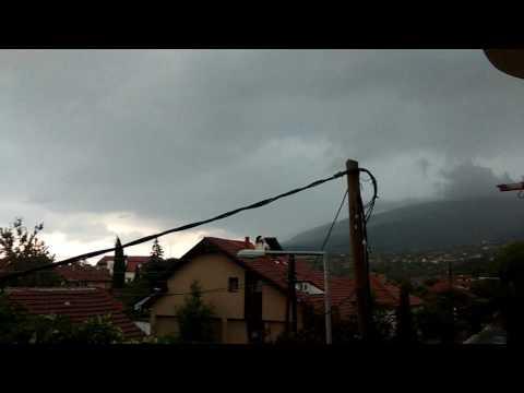 Бура Скопје 06.08.2016 - Skopje Thunderstorm 1