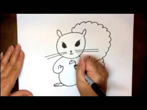 How To Draw Cartoon Squirrel Easy Step By Step Tutorial