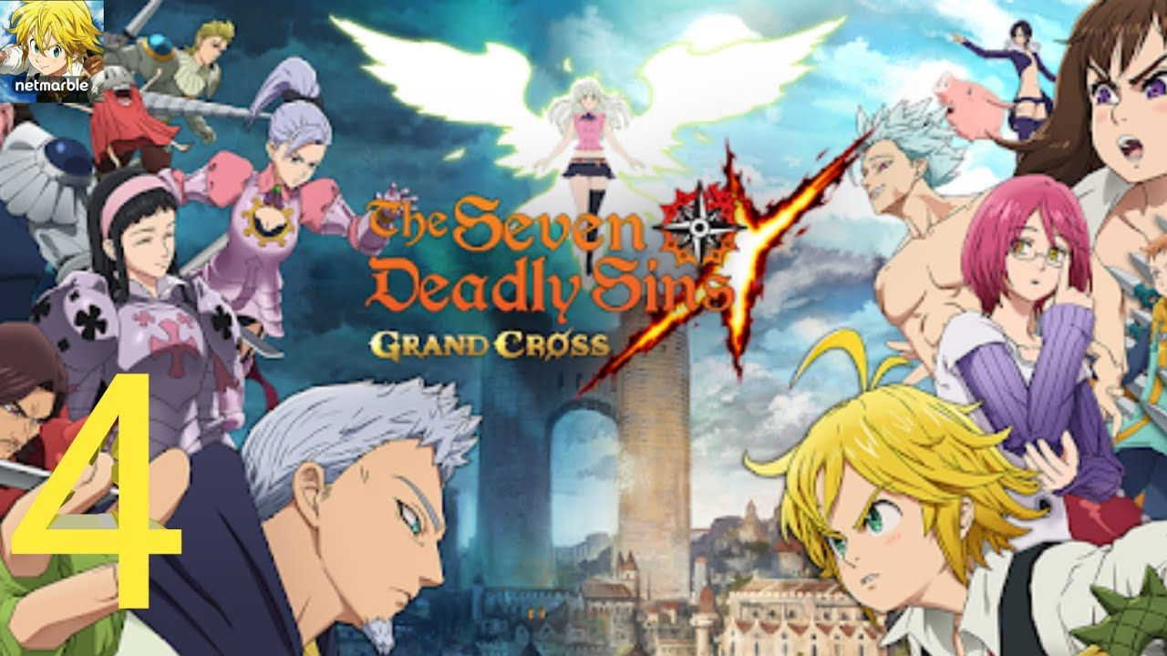 The Seven Deadly Sins Grand Cross Walkthrough Part 4 Episode 7 8 Holy Knight Attack Android