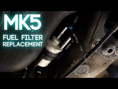 how to install a mk5 volkswagen fuel filter 2007 Vw Jetta Fuel Filter Replacement
