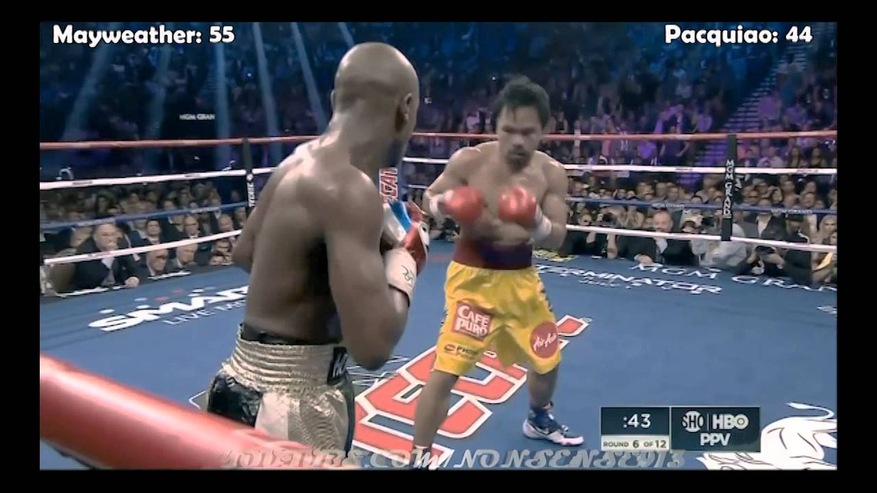 Мейвезер - Пакьяо: Видео всех ударов боксеров