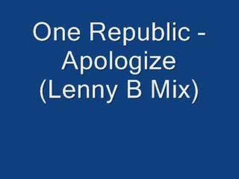 Apologize (Lenny B club mix) - Timbaland Feat One Republic - полная версия