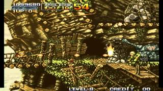 Metal Slug 1, Level 8, No Death Playthrough