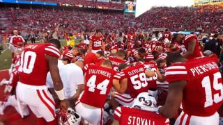 Huskers postgame prayer after beating Purdue 10-22-16