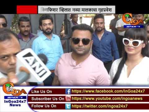 Bizman Sachiin Joshi takes possession of Kingfisher Villa in Goa