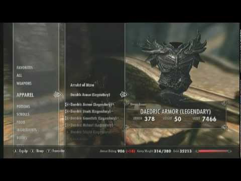 skyrim how to get a daedric bow at level 1
