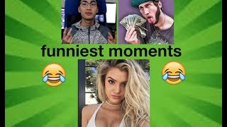 FUNNIEST CLOUT HOUSE MOMENTS #1 (Ricegum, Alissia Violet, FaZe Banks and LOGAN PAUL!)