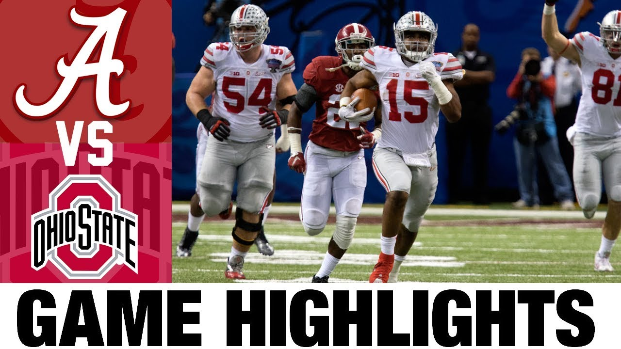 1 Alabama Vs 4 Ohio State 2014 Sugar Bowl Highlights 2010 S Games Of The Decade Youtube