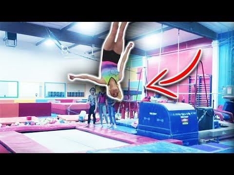 Gymnastics Stick it Challenge with Real Gymnasts Comp.