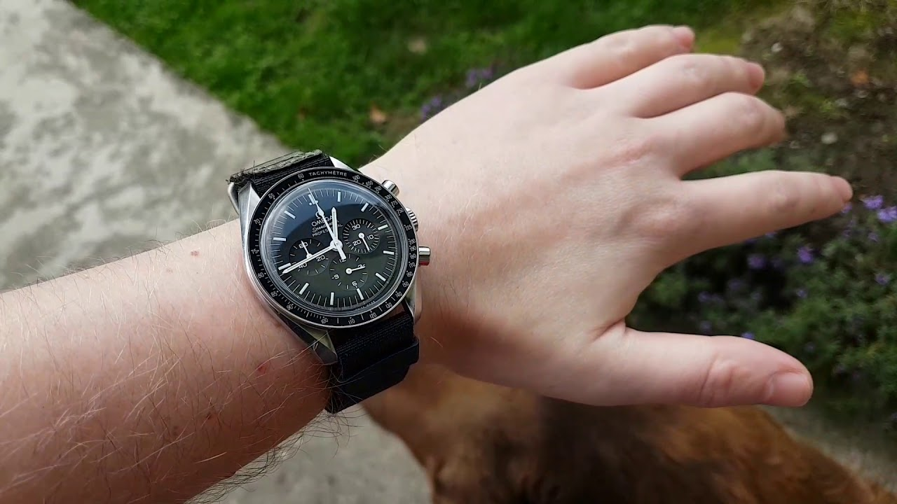 Omega Speedmaster Moonwatch on a official NASA velcro band ...