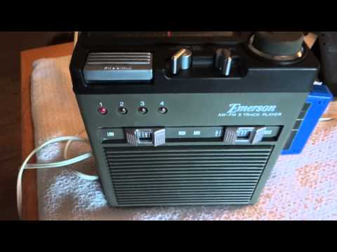 Demo of Emerson PTA-129 AM/FM portable 8 track player