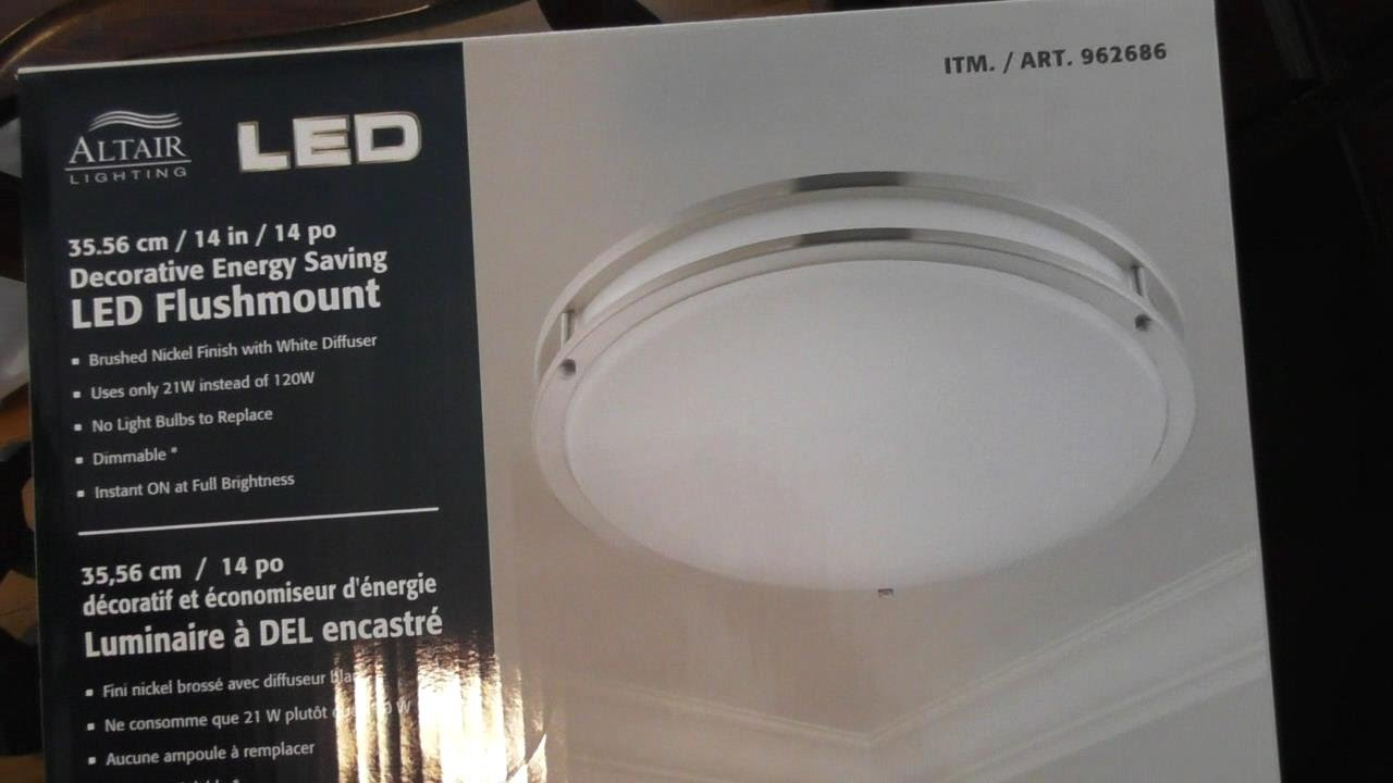 Bathroom Light Fixtures Costco altair led lighting fixture review and installation instructions