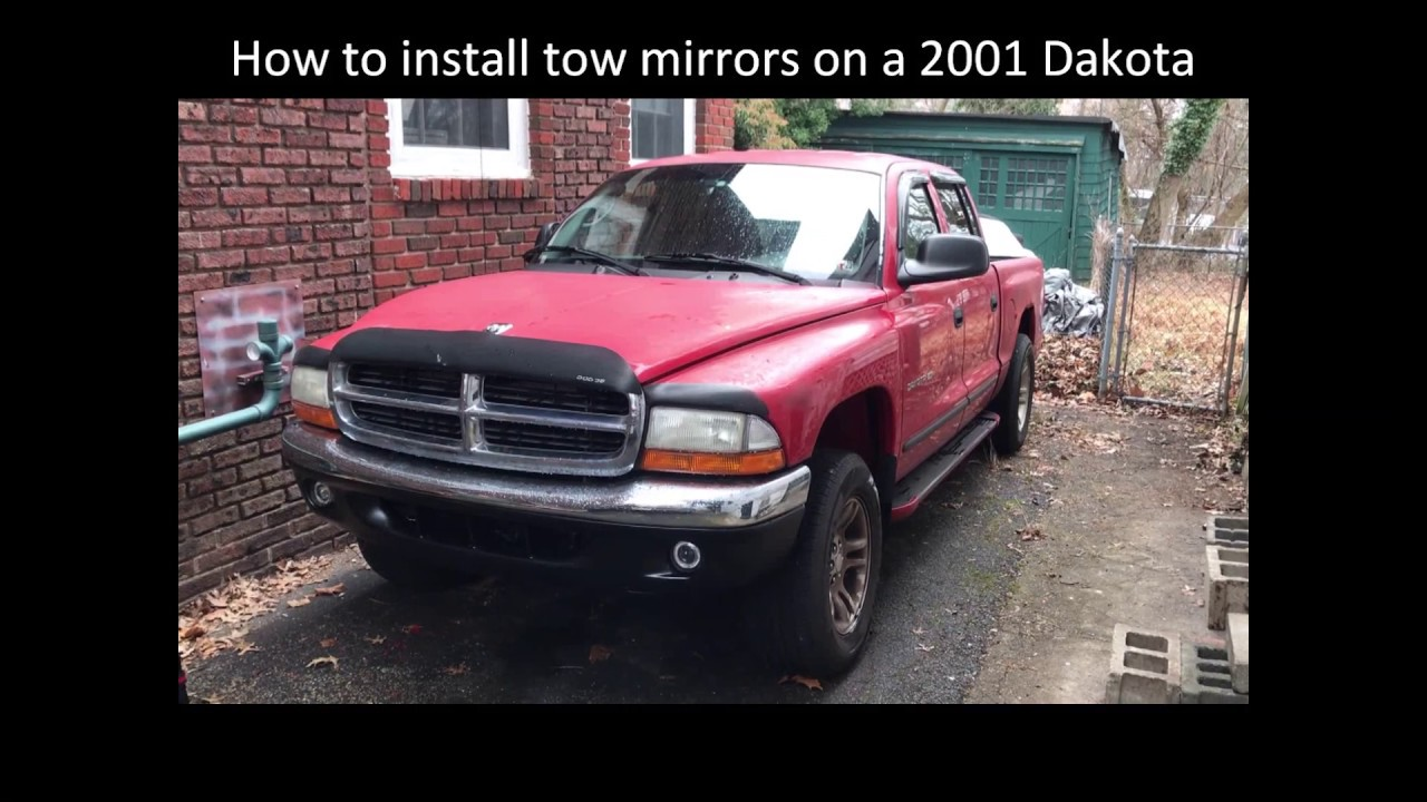 dodge dakota with tow mirrors How to install Tow Mirrors on a 2 Dodge Dakota