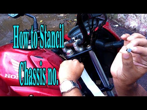 How to stencil Chassis Number Bike