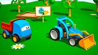 Leo der neugierige Lastwagen - Leo und der Traktor - Cartoon deutsch