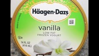 Haagen-dazs Vanilla Low Fat Frozen Yogurt Review