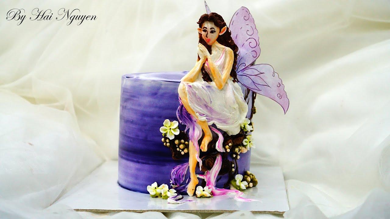 HOW TO PAINT ANGEL CAKE ART WONDERFUL   Cách Làm Bánh Vẽ Thiên Thần Tuyệt Đẹp