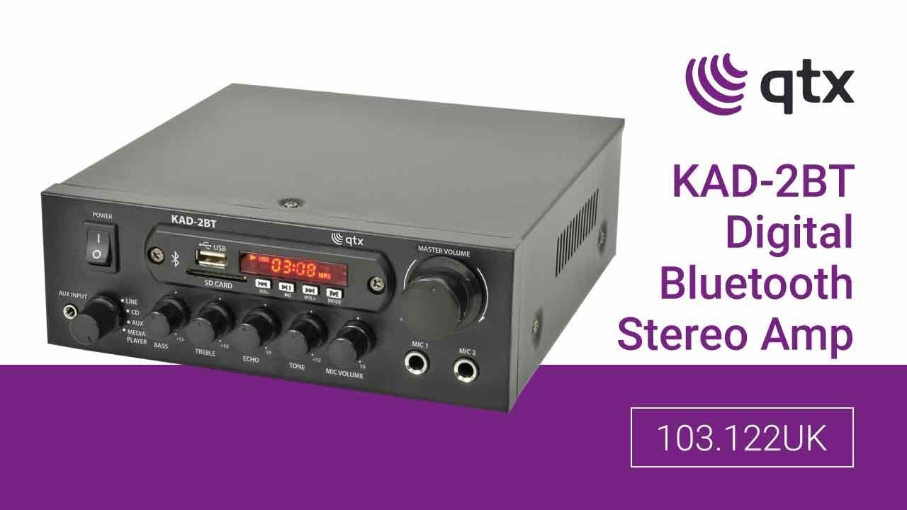 103 122UK: KAD-2BT Digital Stereo Amplifier with Bluetooth