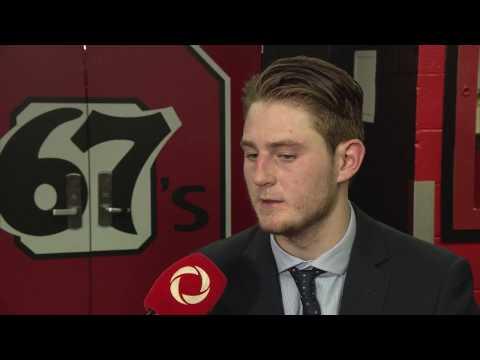Ottawa 67's Tye Felhaber post-game sitdown