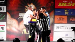 Asian armwrestling championships final Japan