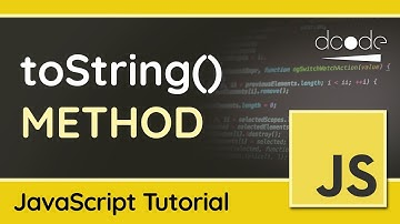 Converting Objects to Strings with toString() - Advanced JavaScript Tutorial