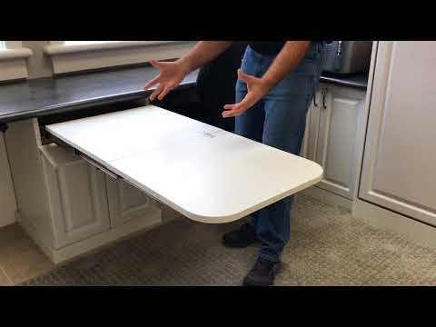 Fold-Out Table for Home Office