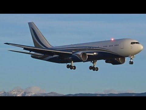 [FullHD] Mid East Jet Boeing 767-200(ER) landing & takeoff at Geneva/GVA/LSGG