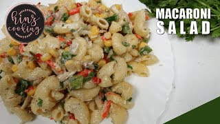 Macaroni Salad Recipe - How to Make Macaroni Salad - Simple Recipe Hindi / Urdu - 5 Minutes Recipe