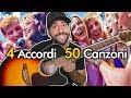 4 Accordi 🎸 50 Canzoni da Suonare in Compagnia!