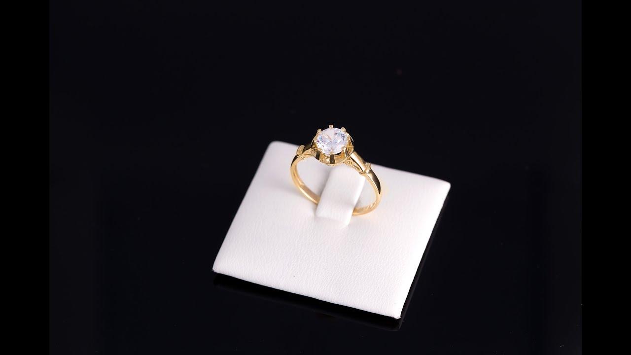 d44c539971554a Złoty pierścionek z cyrkonią Laura Daria 09 - YouTube