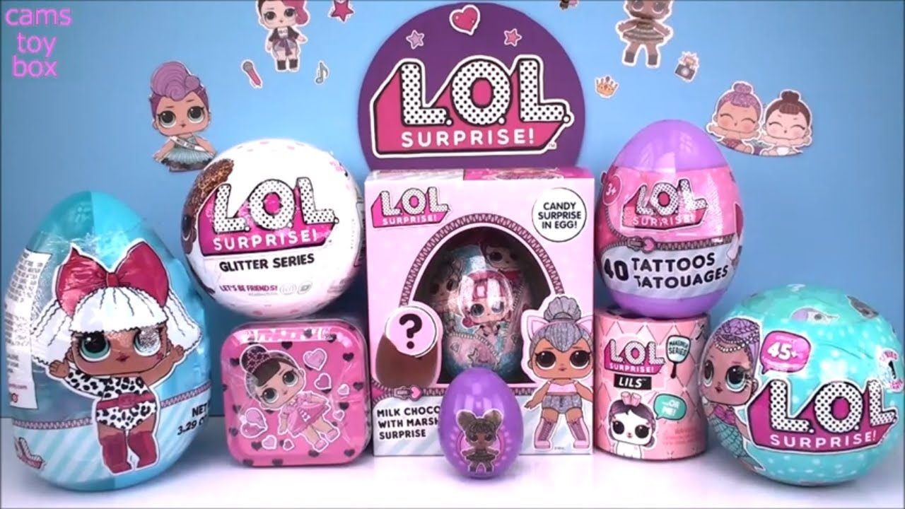 Easter Eggs Lol Surprise Series 1 Glitter Lils Tins Dolls Unboxing Toys Makeover Youtube