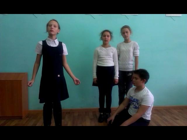 Изображение предпросмотра прочтения – «Группа учащихся» читают произведение «Свинья под дубом» И.А.Крылова