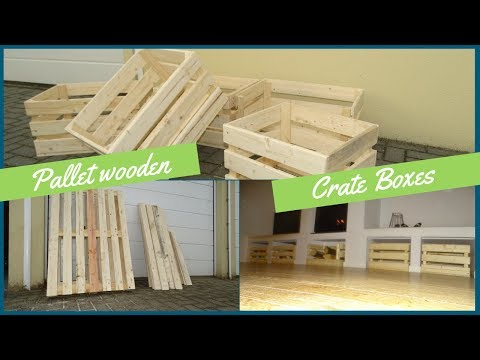 Create some simple crate boxes with pallet wood // How to // DIY
