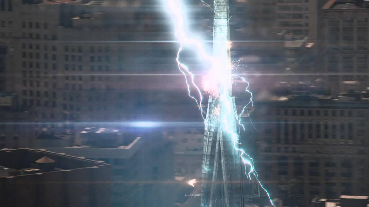 The Avengers (2012) Movie Scene - Power of Thor's Hammer ...
