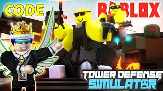 ROBLOX-ENTER CODE HIRE NOOB to KILL THE EVIL ZOMBIE-(CODE) Tower Defense Simulator