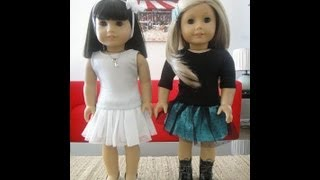 No Pattern Party Skirt For American Girl Dolls