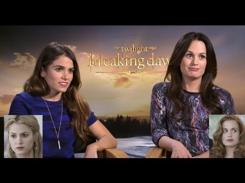Nikki Reed & Elizabeth Reaser On Wig Evolution of Twilight & Reboot – Breaking Dawn Part 2 Junket