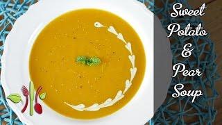 Sweet Potato & Pear Soup With Macadamia Nut Cream (vegan)