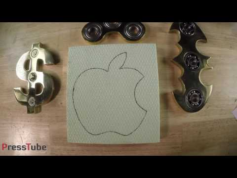 Casting Brass Apple Fidget Spinner from Bullet Shells 1 mp4
