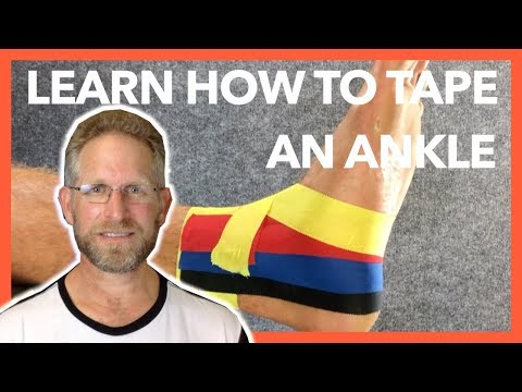 How To Tape An Ankle- Easy Step By Step Ankle Strapping / Taping