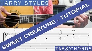 Harry Styles, Sweet Creature, Tutorial, TAB, Guitar Lesson, Chords, FREE SHEET MUSIC