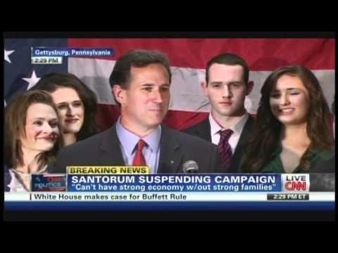 Rick Santorum Campaign Suspension Announcement (April 10, 2012)