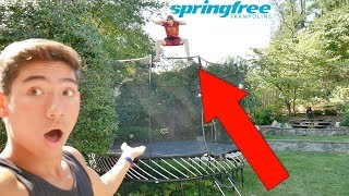 THE NEW AND IMPROVED SPRINGFREE TRAMPOLINE!!!