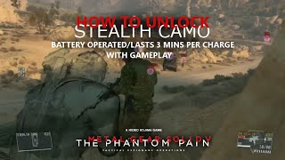 MGSV: TPP - How to Unlock Stealth Camo (3 Mins of Invisibility)