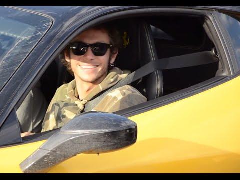 Valentino Rossi smoking inside the Ferrari