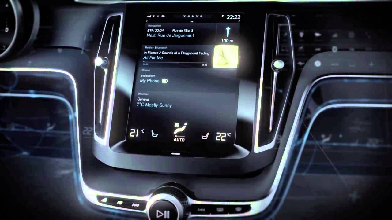 volvo concept estate dashboard with touchscreen the user interface youtube. Black Bedroom Furniture Sets. Home Design Ideas