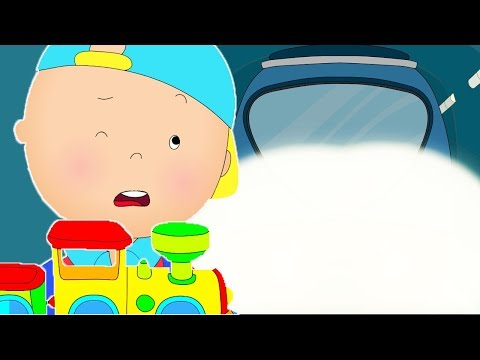 Caillou rides the subway  Funny Animated cartoons Kids  WATCH ONLINE  Cartoon for Children