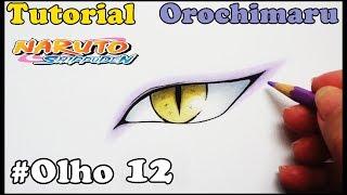 Como Desenhar Olho do Orochimaru Naruto Shippuden - How to Draw Eye of Orochimaru